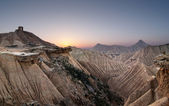 Sunset at desert — Stock Photo