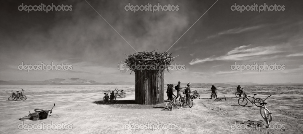 Festival in Black Rock desert, Arizona — Zdjęcie stockowe #8997154