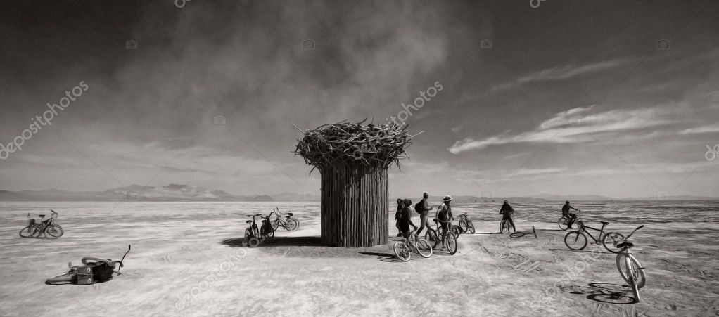 Festival in Black Rock desert, Arizona   #8997154