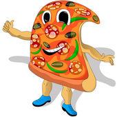 Pizza gest — Stockvektor