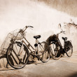 Italian old-style bicycles - Stock Photo