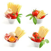Italian pasta collection — Foto Stock