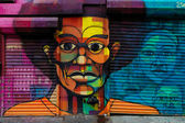 Graffiti art in Harlem, NYC — Stock Photo