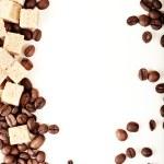 Coffee beans, paper, — Stockfoto