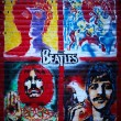 Stock Photo: Beatles graffiti wall