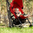Kid in the buggy — Stock Photo