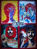 The Beatles graffiti wall — Stock Photo