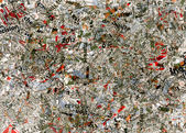 Art dirty abstract background designed from newspapers clips. — Stock Photo