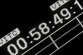 Macro shot-display of the broadcast video recorder — Stock Photo