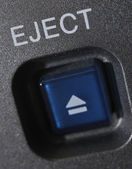 "Macro shot of the ""Eject"" button — Stock Photo"