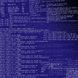 Abstract html code on a dark blue back — Stock Photo