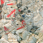 Abstract newspaper dirty damaged background — Stock Photo