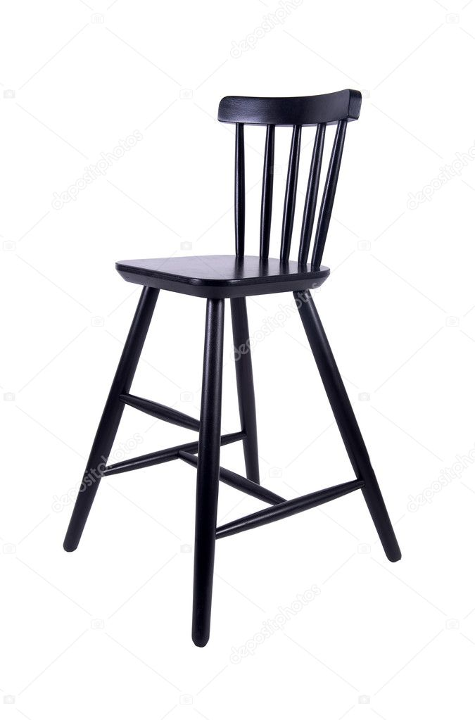 Black chair on a white background — Stock Photo #9032878