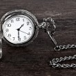 Royalty-Free Stock Photo: Old watch and chain