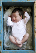 Newborn girl — Stock Photo