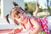 The cheerful, joyful girl with tails — Stock Photo