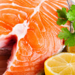 Fresh raw Salmon — Stock Photo #9991134