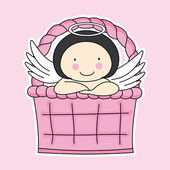 Fairy in a basket — Stock Vector