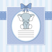 Cute elephant — Stock Vector