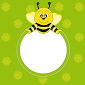 Frame Bee — Wektor stockowy