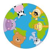 Animals around the world — Stock Vector