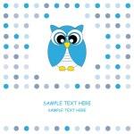 Vector cute owl card — Stock Vector