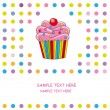 Stock Vector: Greeting Card cupcake