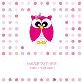 Vector cute owl card — Stock Vector