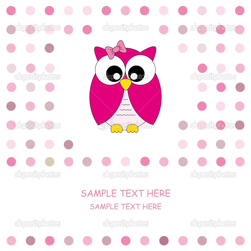 Cute Baby Owl Vector Pic  19