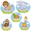 Royalty-Free Stock Vector Image: Savannah animals