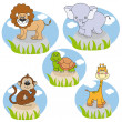 Savannah animals — Stock Vector #8029207