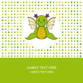 Dragon Card greeting card — Stock Vector