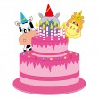 Birthday cake — Stock Vector #8383325