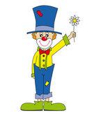 Clown — Stockvektor