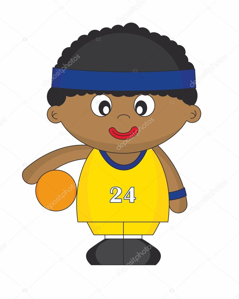 Basketball player wearing the yellow uniform — Stock ...