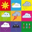 Royalty-Free Stock Vector Image: Weather Icon Set