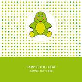 Greeting Card. Turtle — Vetor de Stock