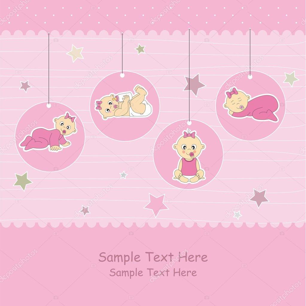 Baby girl arrival announcement card Vector sbego 8644730 – Announcement of Baby Girl