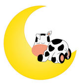 Cow on the moon — Stock Vector