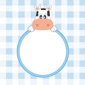 Baby boy arrival announcement — Stock Vector