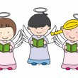 Cute Angels. Vector — Stock Vector