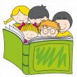 Children reading book — Stock Vector #9015793