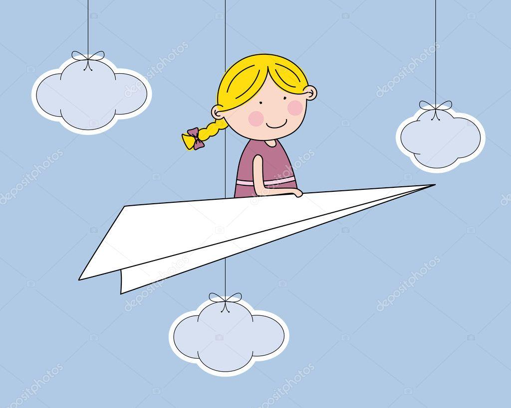 paper plane stock illustration - photo #20