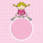 Girl jumping — Stock Vector