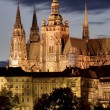 Prague Castle at night — Stock Photo #9619076