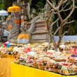 Offering in Bali Hindu temple - Stock Photo