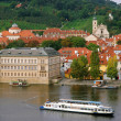 The red roofs on Vltava's riverside in Prague — Stock Photo
