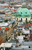 Cityscape of Vienna with St. Peter's church — Photo