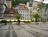 Rain in Karlovy Vary — Stock Photo