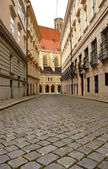 Paving street in Vienna — Stock Photo